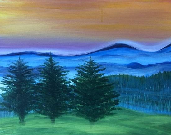 'Smokey Blue Hills'