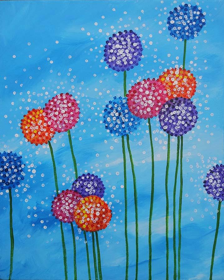 Dandelions n Dots