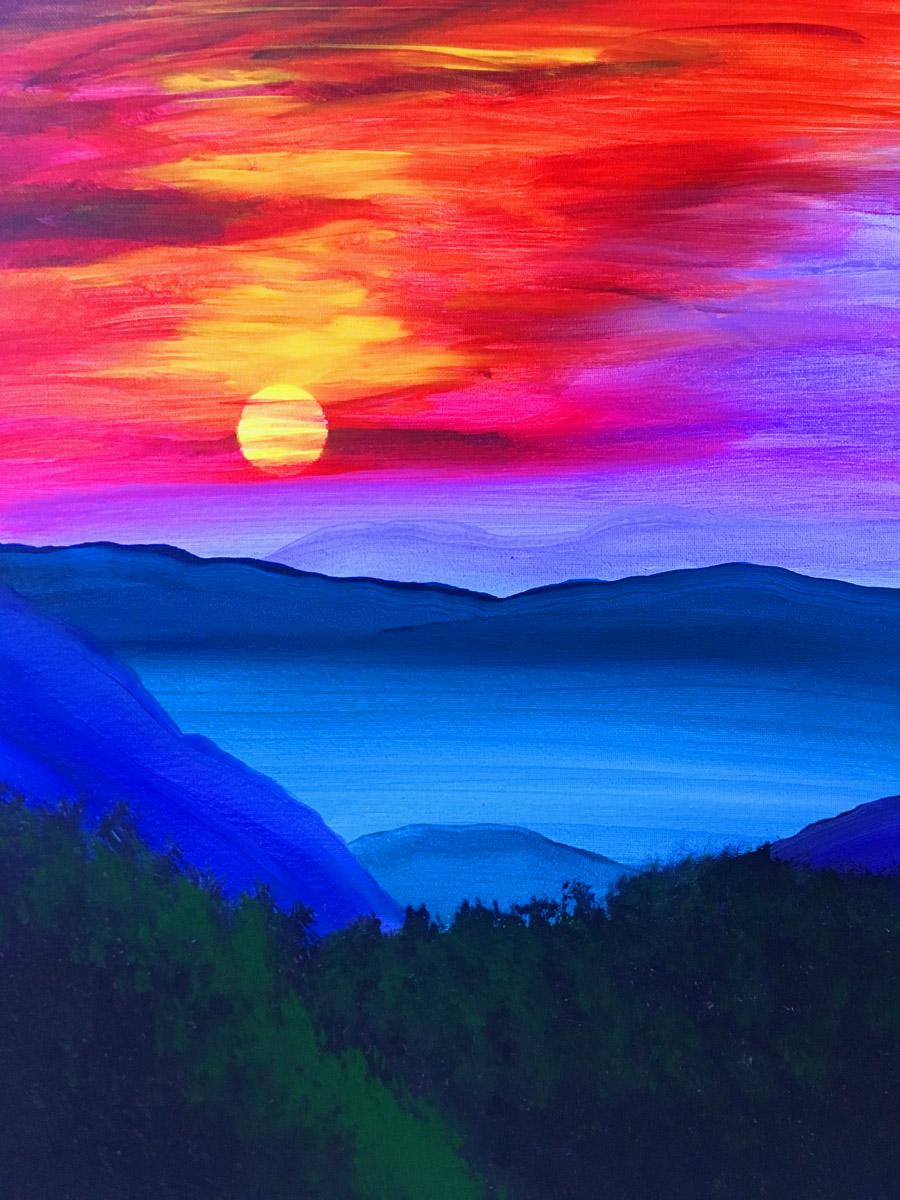 Misty Mountain Sunrise with Erin