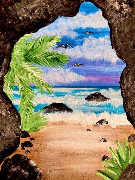 Easy Beach Cave with Erin