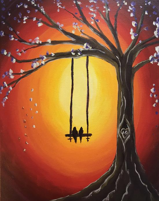 'Birds on a Swing'