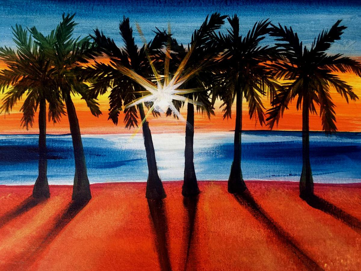 Live Online Event Ombre Palms
