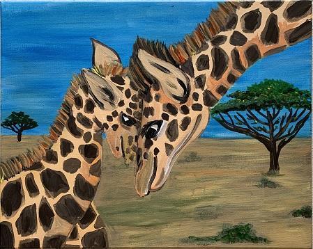 'A Giraffe Mother's Love'