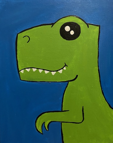 Painting & Kiddos 'Dino' - Live Online Event