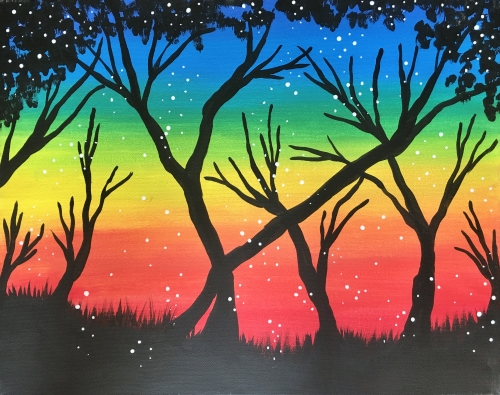 Live Online Event 'Rainbow Tree' Painting & Kiddos