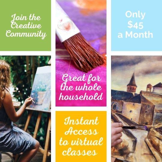 Join the Creative Club! Virtual Painting Membership