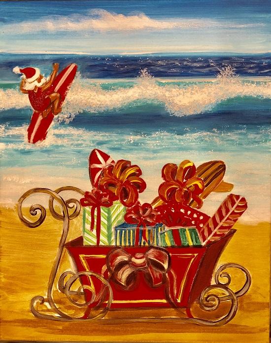 Painting & Brews - 'Surfin Santa'