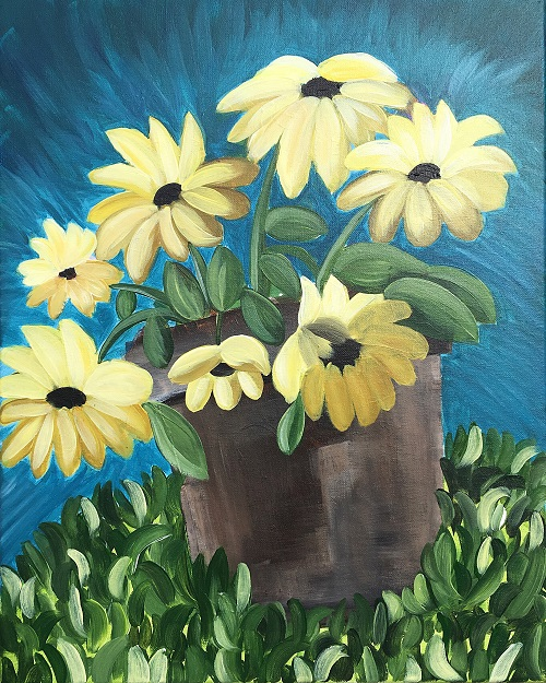 'Potted Sunflowers'
