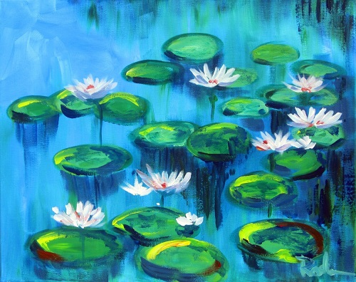 Painting and Brews - 'Water Lilies'