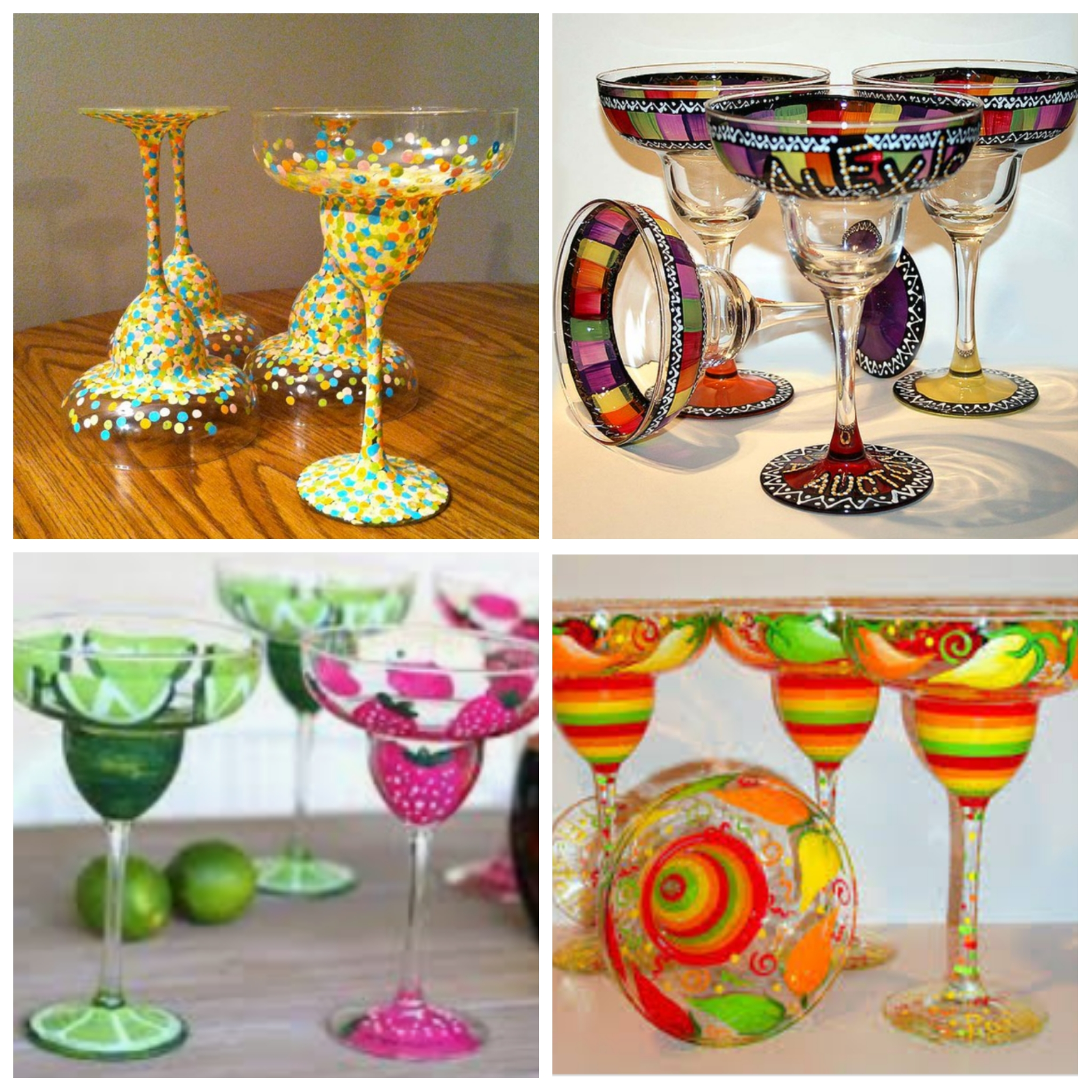 Paint your own Pair of Margarita Glasses