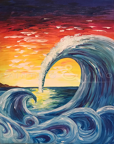 'Wave at Sunset'