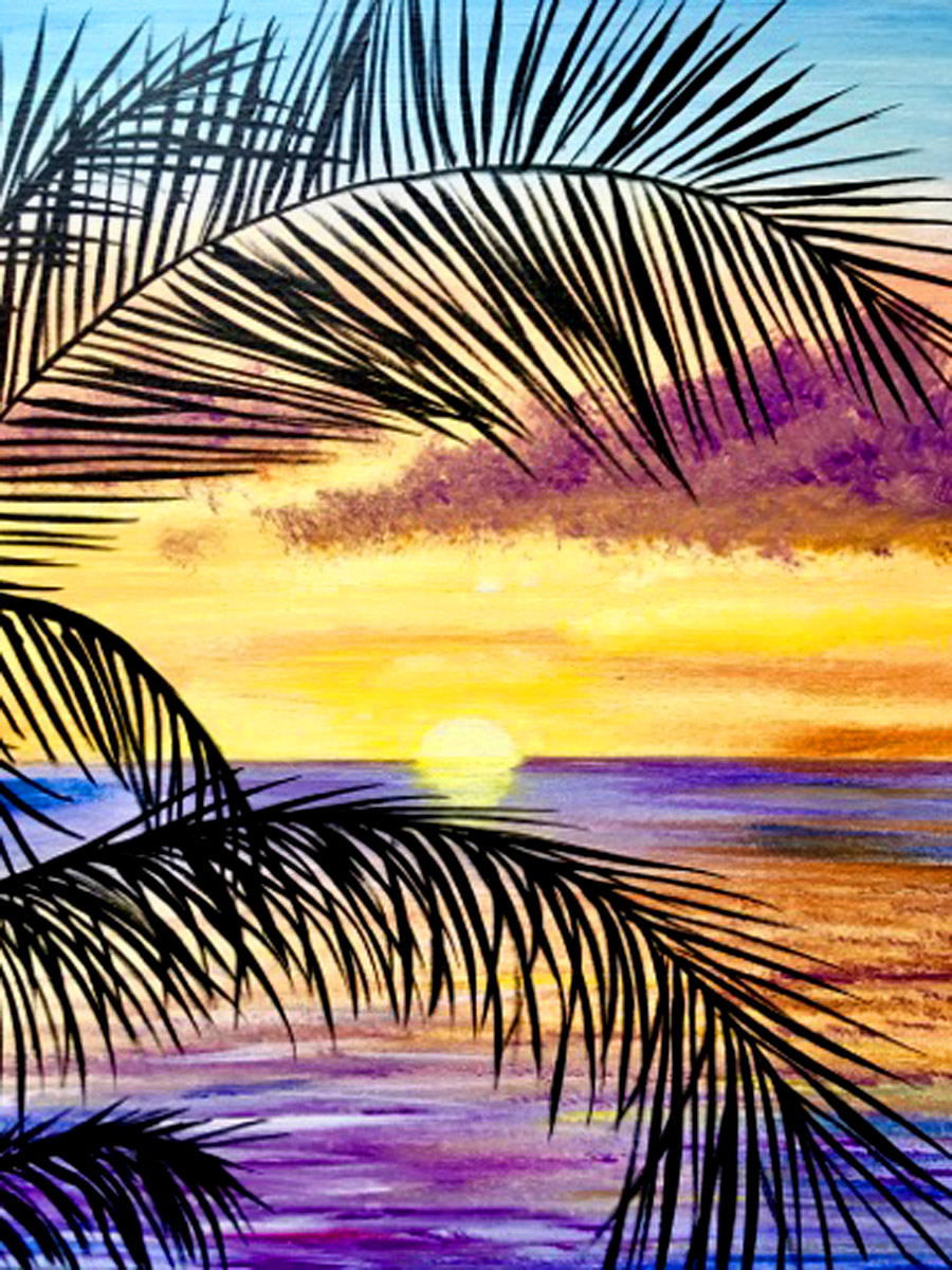 Tranquil Palms Outdoor Paint with Erin
