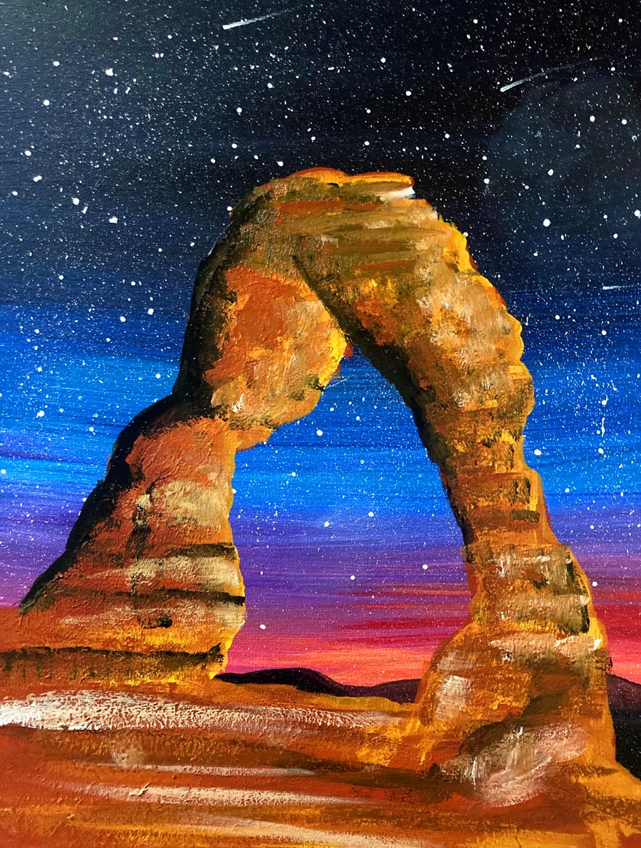 Arches after Dusk with Erin