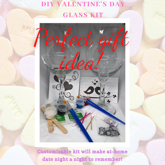 DIY Valentines Glass Painting Kit