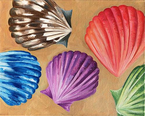 'Vibrant Seashells'