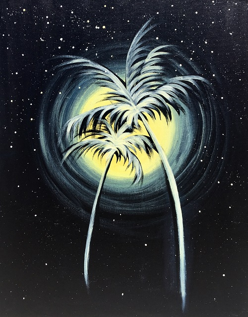 'Palm Trees at Night'