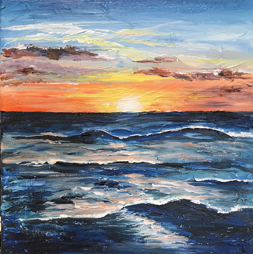 Carlsbad Sunset - Mixed Media