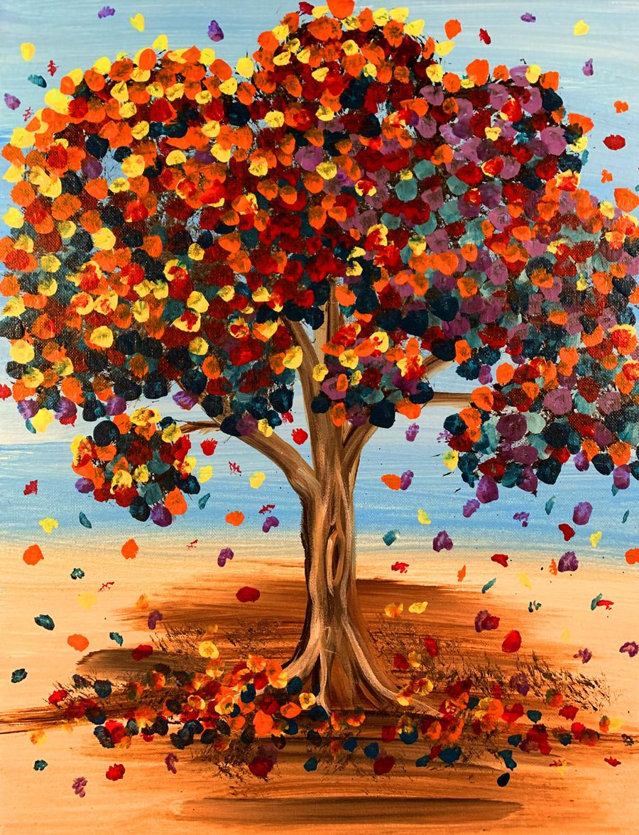 Confetti Fall Tree with Erin