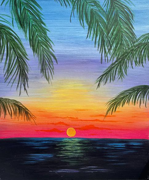 ''Purple Palms