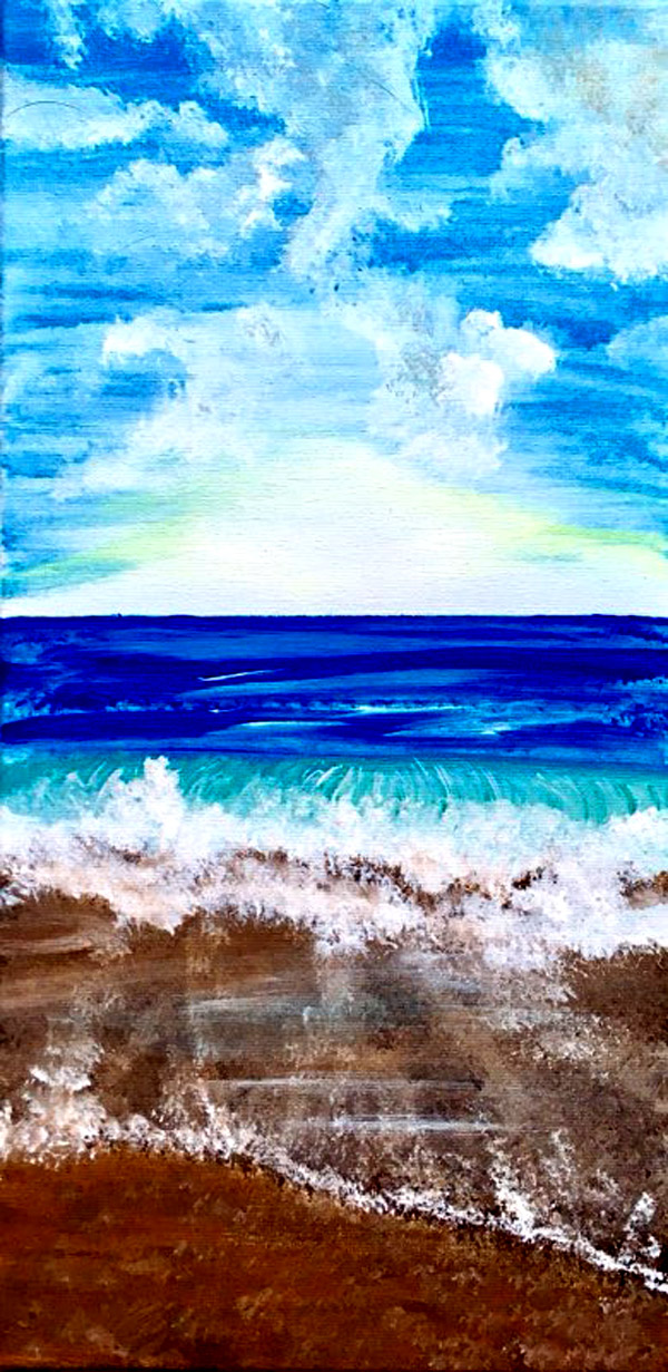 Sea Scape on 10x20 canvas