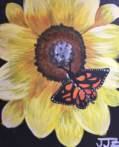 Live Online Event 'Sunflower and Monarch'