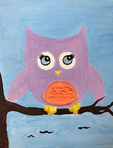 Painting and Kiddos 'Sweet Owl' -Live Online Event
