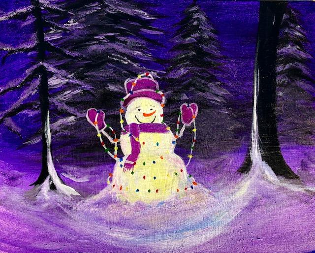 'Lighted Snowman'