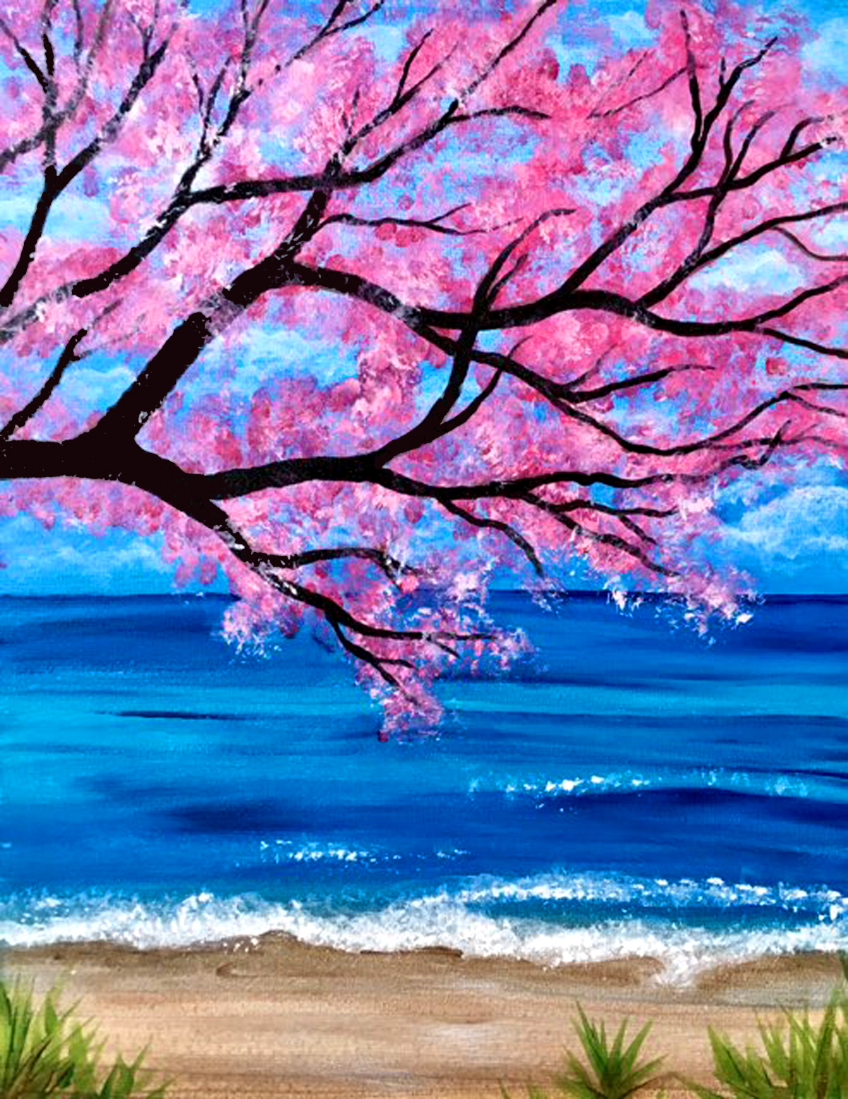 Beach Blossom Outdoor Paint with Erin
