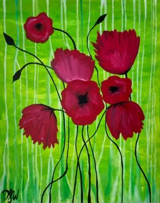 'January Poppies'