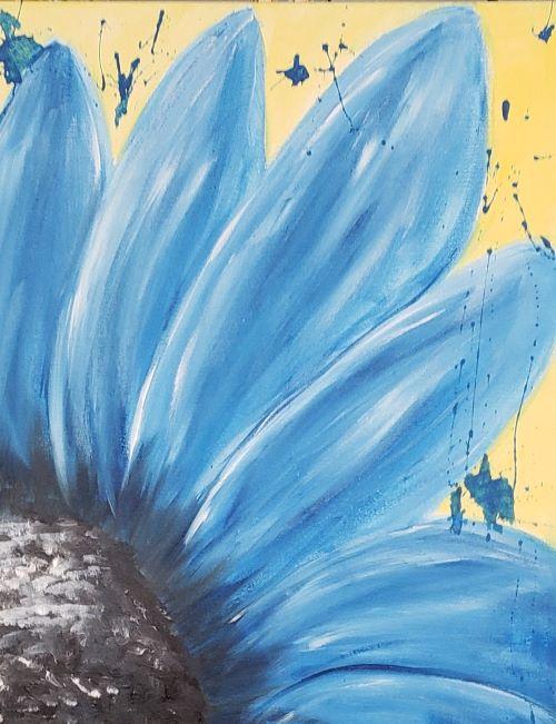 Live Online - Blue Flower Splatter
