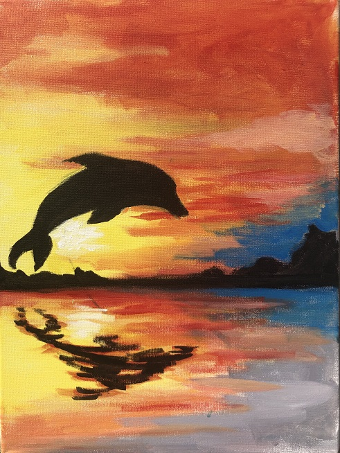 'Dolphin Sunset'