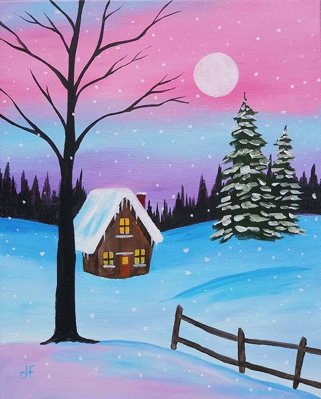 Winter Cabin