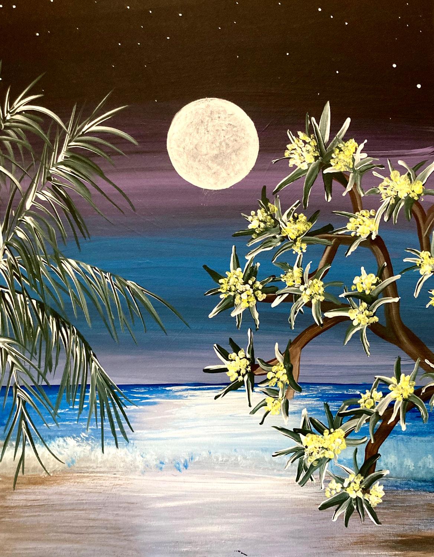 Moonlit Beach with Erin