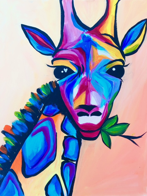 'Vibrant Giraffe'