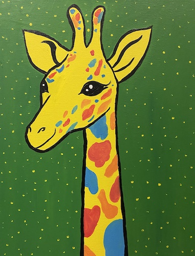 Painting & Kiddos 'Giraffe' - Live Online Event