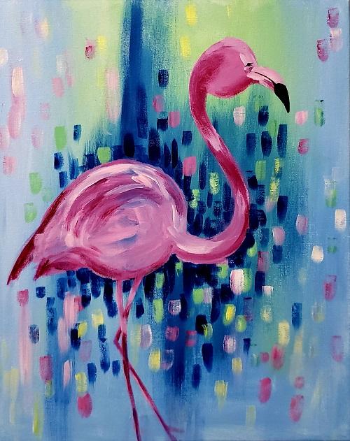 Painting & Brews - 'Glorious Flamingo'