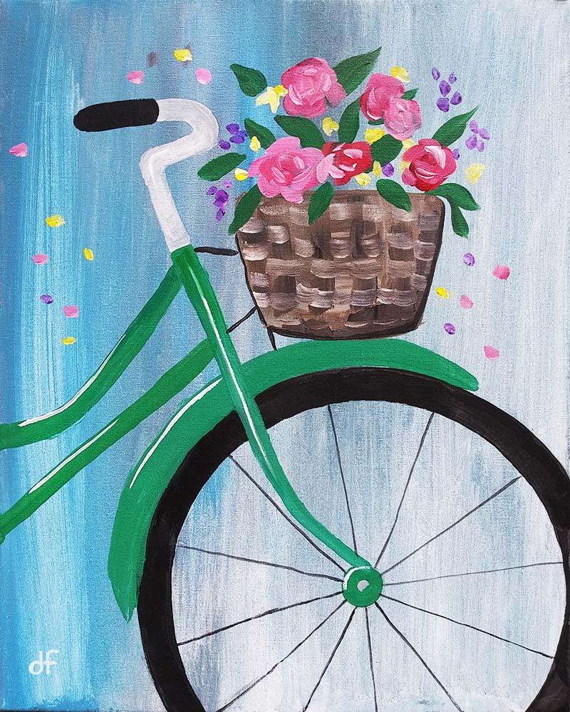 Spring Bicycle Basket