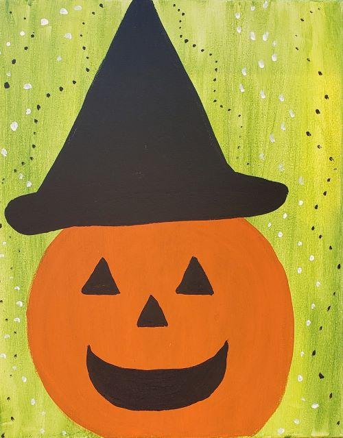 Family Friendly  Pumpkin Witch - KB