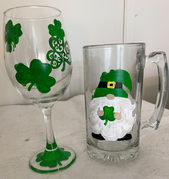 ''St Pats Wine and Beer Mug
