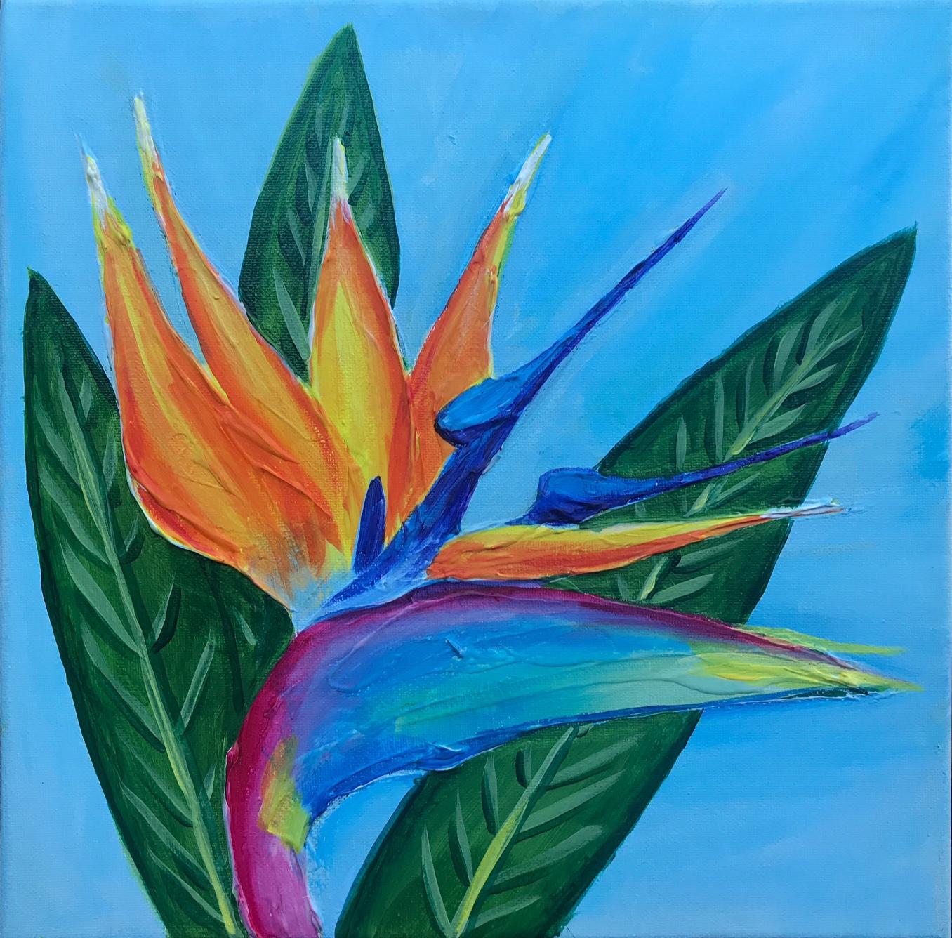 'Bird of Paradise' Mixed Media