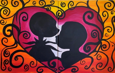 'Jack and Sally' Couple's Painting