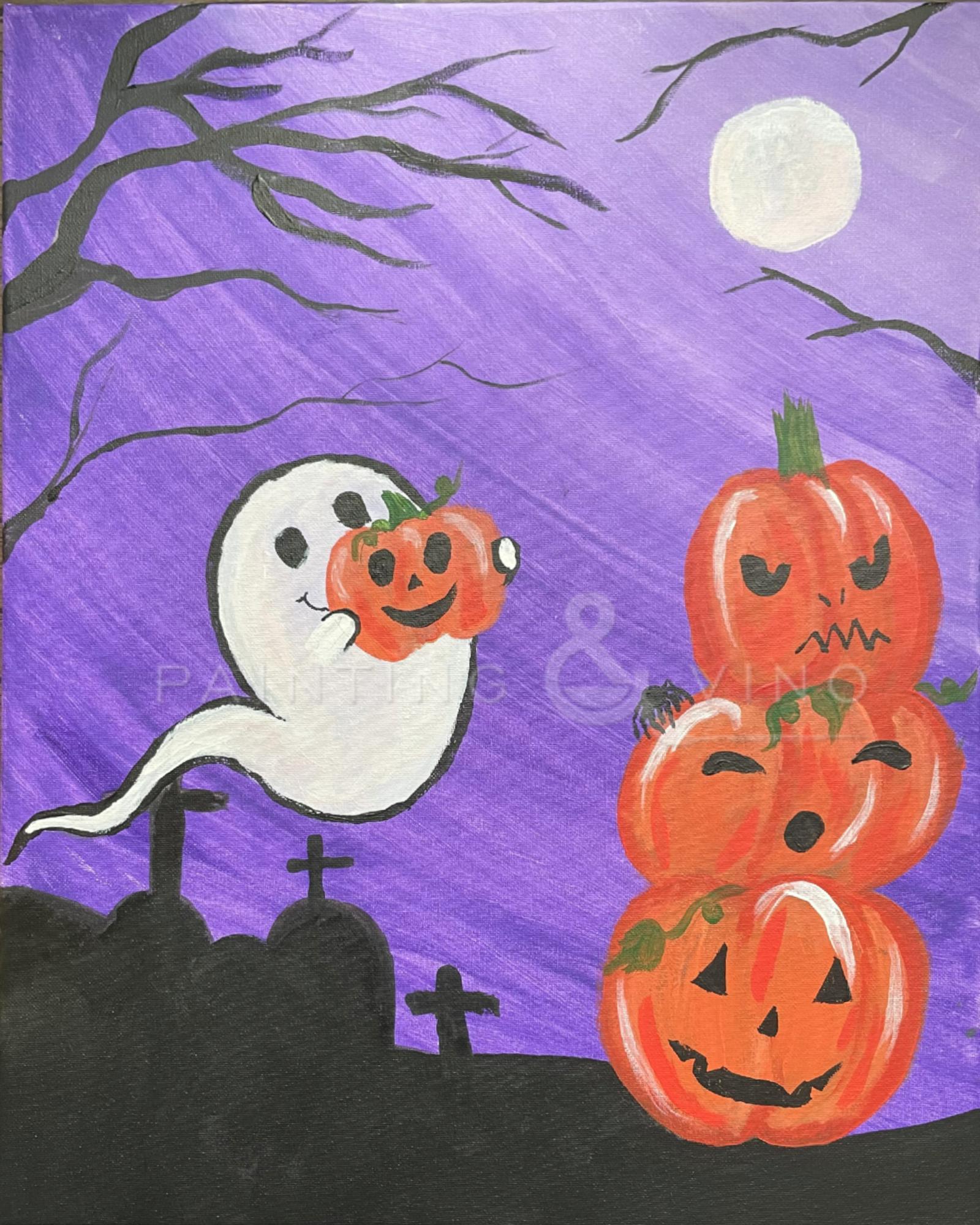 Bootiful pumpkins - Spooktacular paint and sip night
