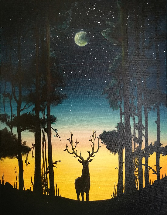 'Deer in Moonlight'