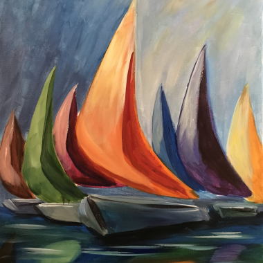 'Sailboats' - Painting & Brews