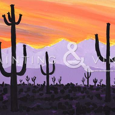 Cinco de Mayo Saguaro Sunset - Live Online Event