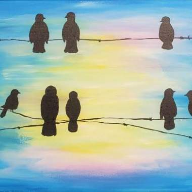 Live Online - Birds on a wire
