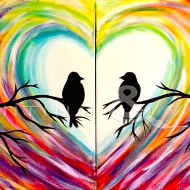 Pair of Love Birds - Live Online Event
