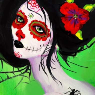 Dia De Los Muertos Girl with Erin