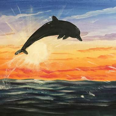 'Dolphin' - Painting & Brews