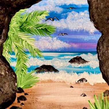 Beach Cave with Erin